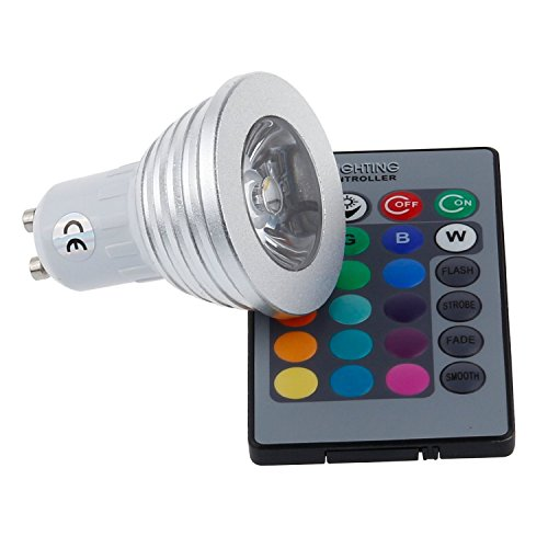 Cozyswan®Brand New Multicolor Gu10 Led Rgb Colour Changing Spotlight Light Bulb 3W Remote Controller/ Let The Solar Move To Your House!
