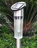 """27"""" Stainless Steel Solar Garden Light Set- (6 of Set)"""