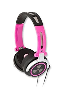 EarPollution CS40 Headphones - Pink (EP-CS40-PNK) (Discontinued by Manufacturer)