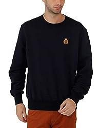 Fahrenheit Men's Fleece Sweat Shirt (8903942217135_Dark Blue_X-Large)