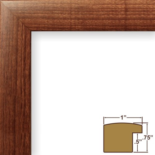 craig-frames-23247616-14-by-18-inch-picture-frame-smooth-wood-grain-finish-1-inch-wide-walnut-brown