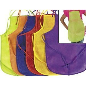 Click to buy 12 Pack Children's Artists Aprons, Polyester Non-woven Assorted Colorsfrom Amazon!