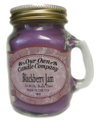 Blackberry Jam 13 oz Mason Jar Candle (Our Own Candle Company) Made in USA - 100 hr burn time