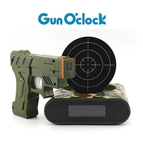 Gun Alarm Clock Target Wake Up Shooting Game Toy Novelty: Unique Alarm Clocks Perfect For A Kid's Bedroom