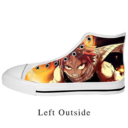 Custom Fairy Tail Classic Fashion High Top Canvas Shoes for Women White US7