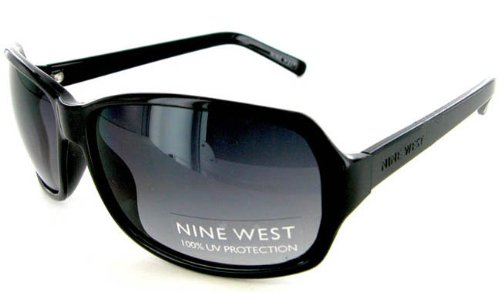 Women's Nine West Black Sunglasses Gradient UV Lenses