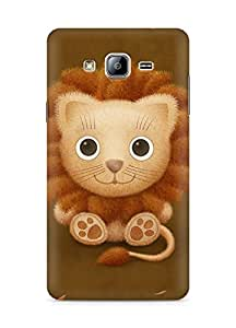Amez designer printed 3d premium high quality back case cover for Samsung Galaxy ON5 (cute lion brown animal)