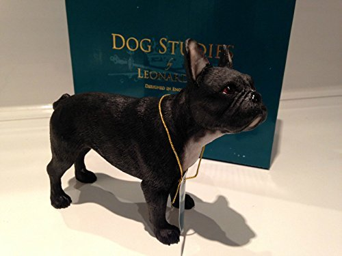 Black French Bulldog Ornament Dog Figure Figurine Model Brand New Gift Boxed - Leonardo Collection by Lesser & Pavey
