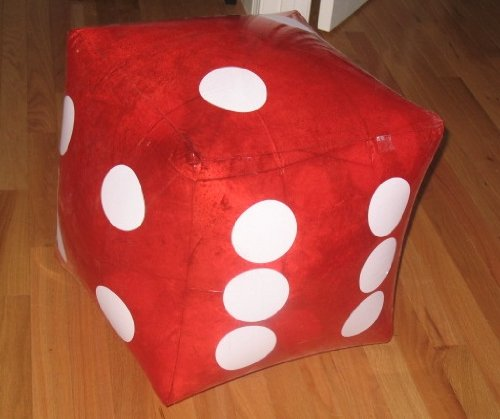 "HUGE 16"" Inflatable RED Dice - PARTY DECORATION/Favor/GAG/Prank GIFT/CASINO/INFLATE/TOY"