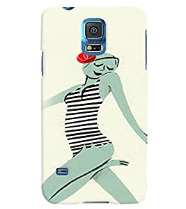 Fuson 3D Printed Girly Designer back case cover for Samsung Galaxy S5 Neo - D4546