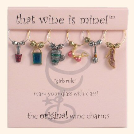 That wine is mine! Wine Glass Charms - Girls Rule