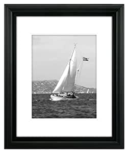 Malden International Designs Portrait Gallery #1 Matted Holds 11x14 - without Mat 16x20 Black Picture Frame