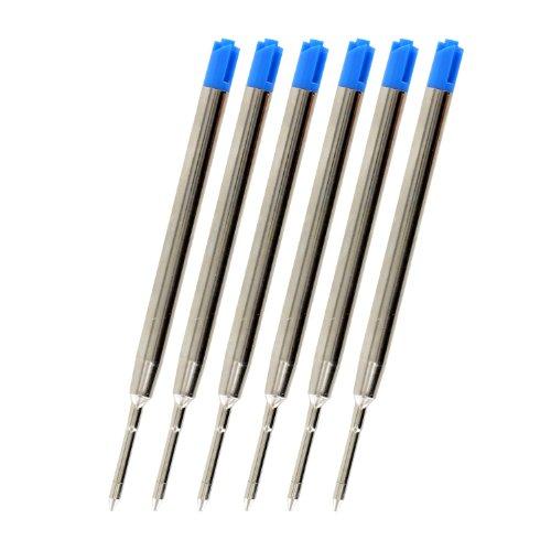 Stylo bille Parker-Recharge Par JinHao, pointe Fine 0,7 mm-Encre Bleue Lot de 6)