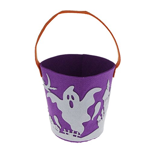 BangBangHalloween Trick or Treat Bags Party Favours Halloween Candy Bucket Handhold (Frozen Trick Or Treat Bucket)