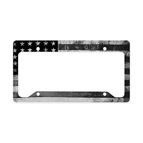 CafePress - American Vintage Flag Black A - Aluminum License Plate Frame, License Tag Holder (American License Plate Frame compare prices)