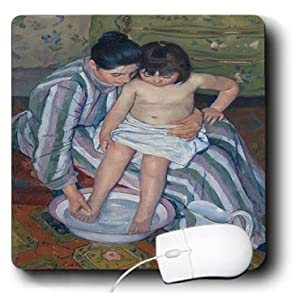 mp_101049_1 Florene Famous Art - Picture Of Mary Cassatt Impressionism Painting The Childs Bath pd-us - Mouse Pads