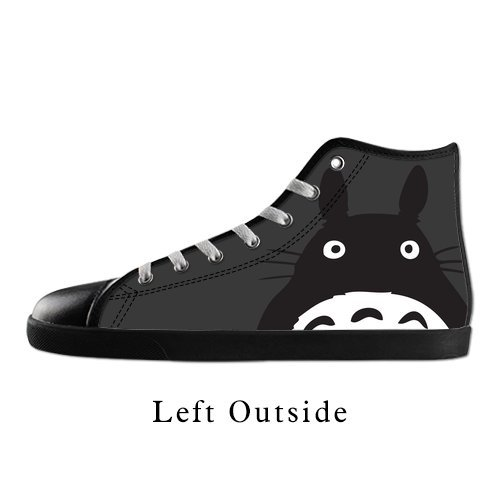 OK-Shoes Women's Anime My Neighbor Totoro High Top Canvas Shoes Black US8