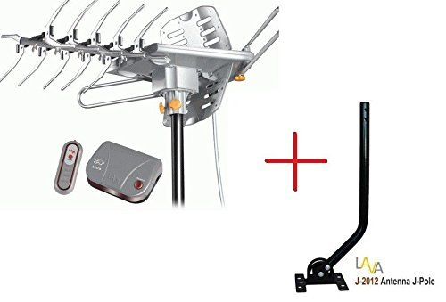 LAVA HD-2605 ULTRA HDTV DIGITAL ROTOR Amplified Outdoor TV ANTENNA HD UHF VHF FM Universal J-Pole Mount Pole J-2012
