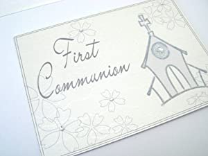 White Cotton Cards First Communion Keepsake Box, A4 Size, Large, Church
