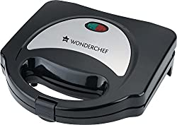 Wonderchef Prato 750-Watt Sandwich Maker (Black)