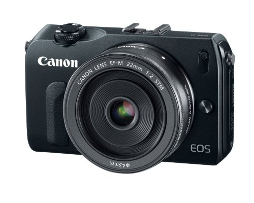 Canon EOS M 18.0 MP Compact Systems Camera with EF-M18-55mm IS and EF-M 22mm f/2 STM Lens Black