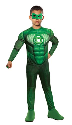 Green Lantern Child's Deluxe Hal Jordan Costume With Light Up Logo