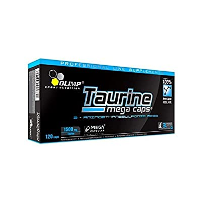 Olimp Nutrition Taurine Mega 120 caps -- 3000 mg per serving -- Increases ENERGY / ENDURANCE / REGENERATES MUSCLE