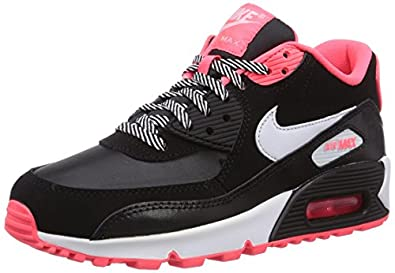 Nike Air Max 90 2007, Baskets mode fille - Noir (Black/White/Hyper Punch 064), 36.5 EU: Amazon