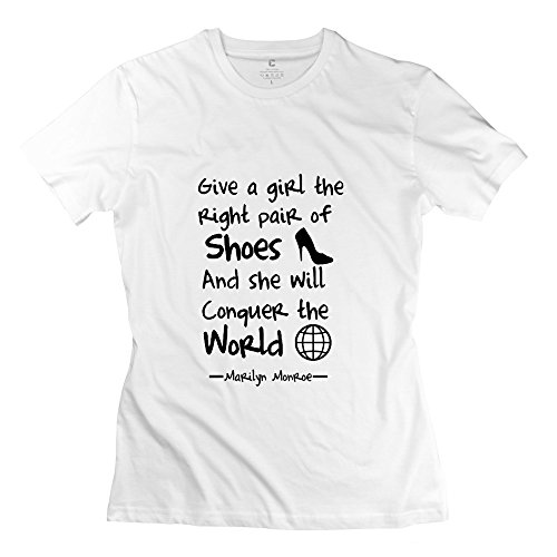 Right Shoes Durable Women T-Shirt Large White