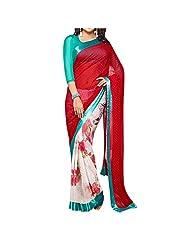 Bhavi Embellished Printed Georgette Saree - B00NBXYG3U