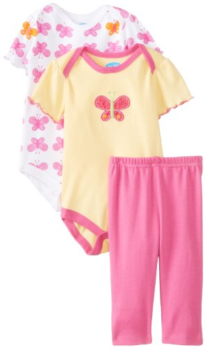 Bon Bebe Baby-Girls Newborn Butterfly 3 Piece Legging Set, Multi, 0-3 Months front-1072869