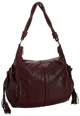 HOBO INTERNATIONAL Trinity Hobo Ziptop Bag,Aubergine,one size