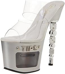 Pleaser Women s Dice 702 2 Platform Sandal