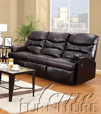 ACME 50935 Arcadia Power Motion Sofa, Espresso Bonded Leather