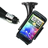 HTC Sensation / XE Made To Measure Suction Mount Holder & Car Charger Kit - iZKA® One Stop Shop For All Your Accessory Needs