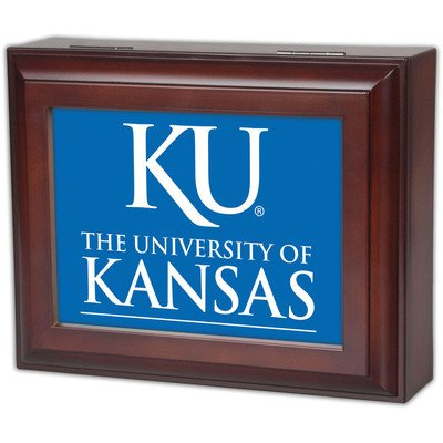 Collegiate Digital Music Jewelry Box Finish: Wood Grain, Ncaa Team: University Of Kansas
