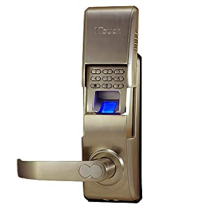 1TOUCH IQ2 - Biometric Fingerprint Door Lock- Left Handed - Brushed Nickel