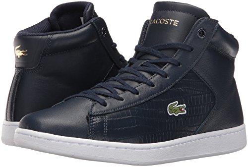 Lacoste Women's Carnaby Evo Mid G316 1 Fashion Sneaker, Navy/Navy, 8 M US