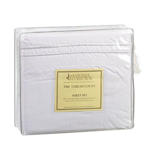 Js Sanders 1500 Series Sheet Set, Queen Size - White front-299374