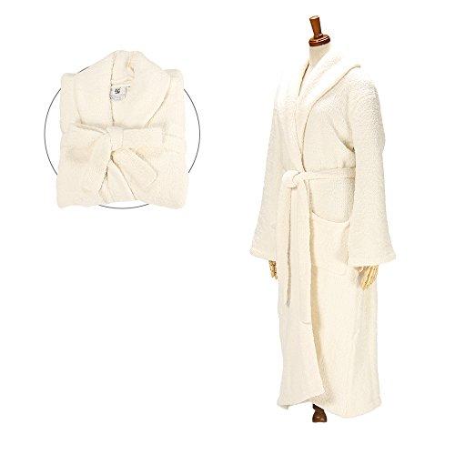 kashwere カシウェア Bathrobe/Gown バスローブ ガウン Shawl Collar Robe ショールカラーローブ Creme クリーム R-01-05-02並行輸入品