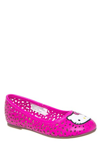 Hello Kitty Kid's Baylee Perforated Ballet Flat