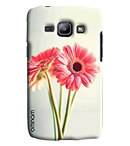 Omnam Two Lily Flower Printed Designer Back Cover Case For Samsung Galaxy J1