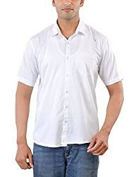 CREEDS Men's Casual Shirt (Oxford White_L, White, L)