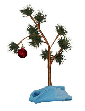 "'Charlie Brown Christmas Tree with Blanket 24"" Tall (Non-Musical)'"