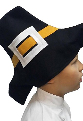 Kids Pilgrim Hat Thanksgiving Children Size Soft Comfortable Felt
