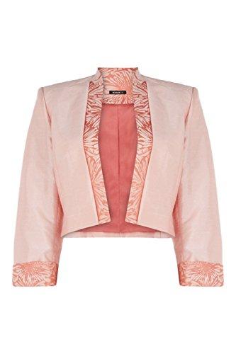 Roman Women's Jacquard Contrast Jacket Coral