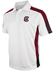 Buy South Carolina Gamecocks NCAA Bracket Performance Polo Shirt - White by Colosseum