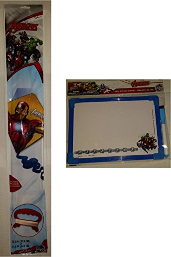 [Iron Man Marvel Avengers Dry Erase Board Captain America Kite Hulk Gift Travel Activity Set Bundle] (Homemade Cupcake Costumes For Adults)
