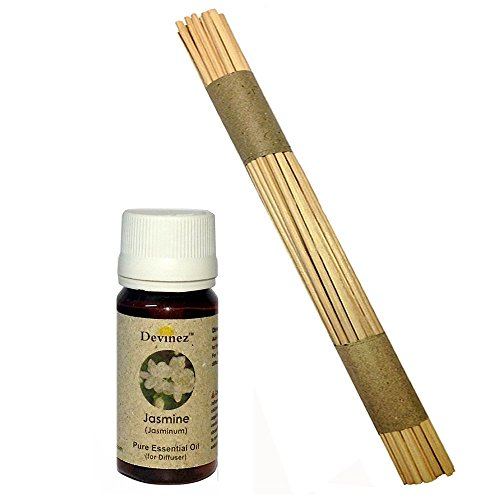 Devinez Premium Reed Sticks/ Refill Pack For Reed Diffusers 10 Inches (100 Sticks) With Free 30ml Jasmine Oil...
