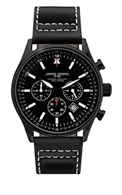 Jorg Gray Leather Chrono Black Dial Men's watch #JG6500-11